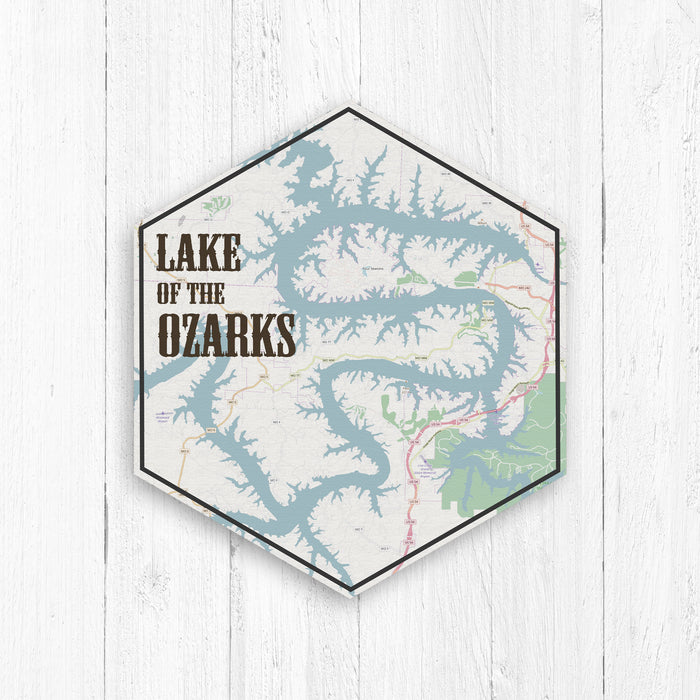 Lake of the Ozarks Missouri Hexagon Canvas
