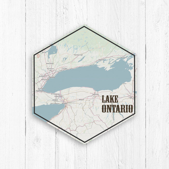 Lake Ontario Hexagon Canvas: Nautical