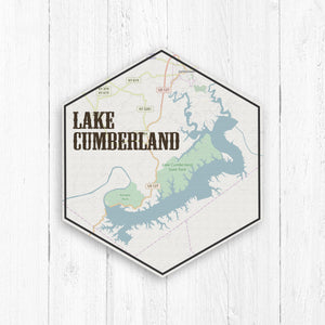 Lake Cumberland Hexagon Canvas
