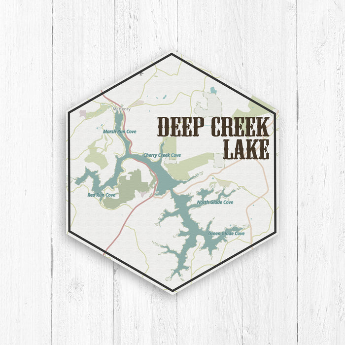 Deep Creek Lake Maryland Hexagon Map