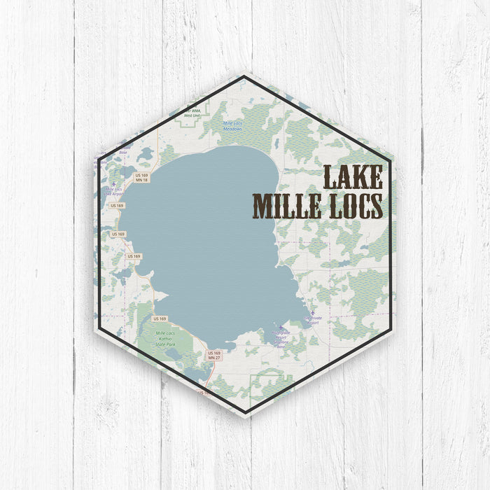 Lake Mille Locs Minnesota Hexagon Canvas
