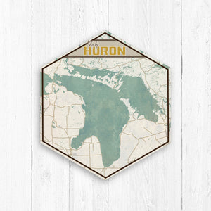 Lake Huron Hexagon Canvas