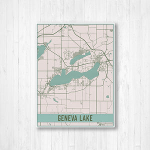 Map of Geneva Lake