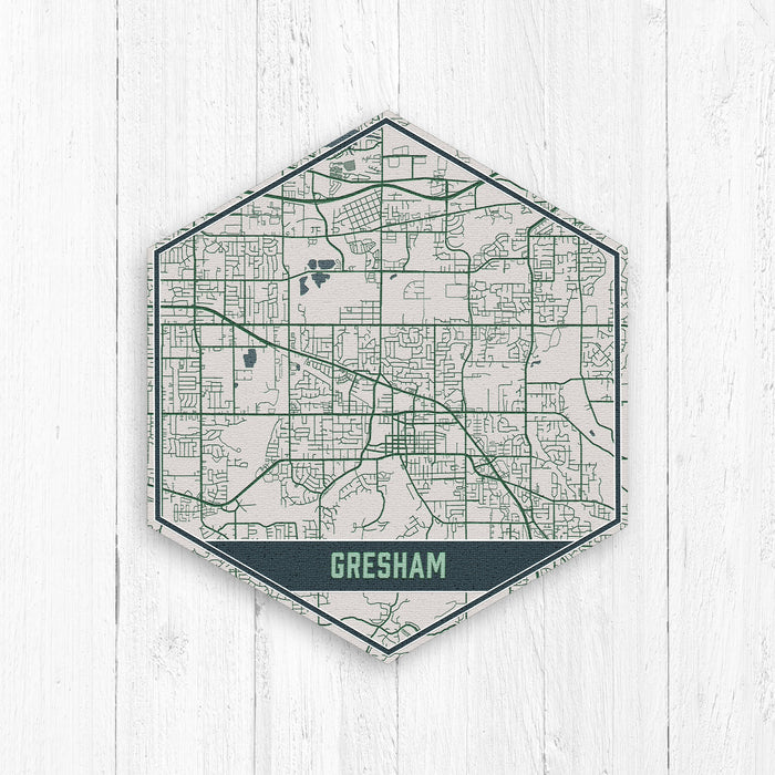 Gresham Oregon Street Map Print