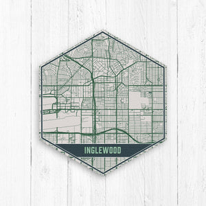 Inglewood California Hexagon Map Neutrals
