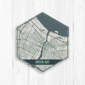 Green Bay Wisconsin Map Print