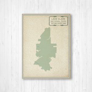Lake Clark National Park Map Print
