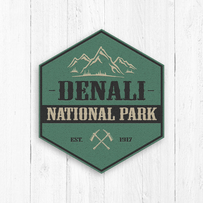 Denali National Park Logo Hexagon