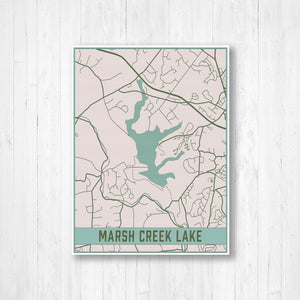 Marsh Creek Lake Pennsylvania Map