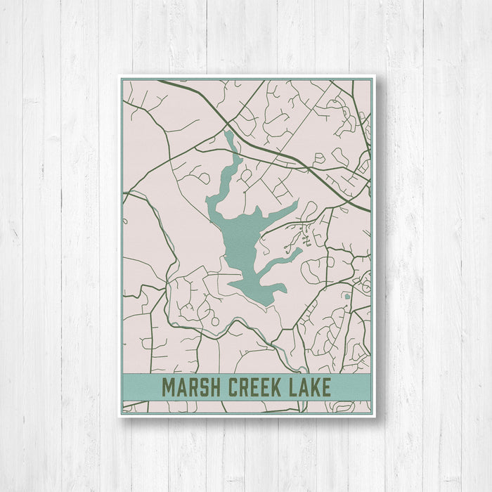 Marsh Creek Lake Pennsylvania Map Print