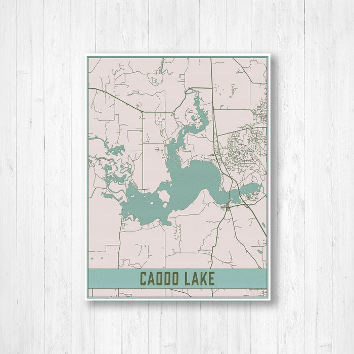 Caddo Lake Texas Map Print