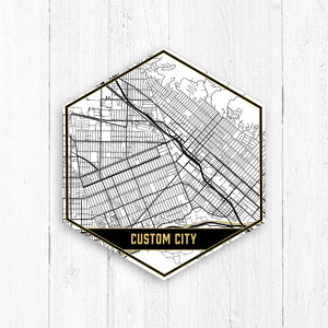 Black and White Custom Street Map