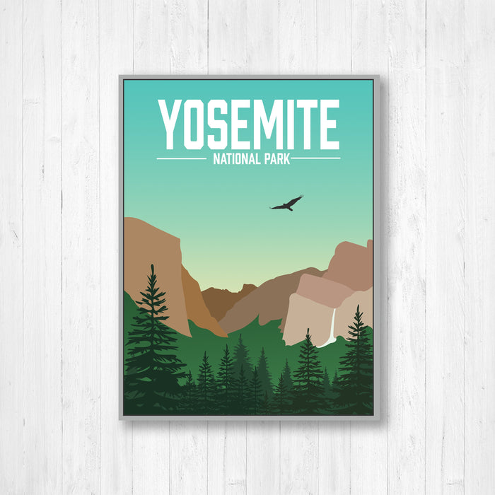 Yosemite National Park Modern Illustration Print