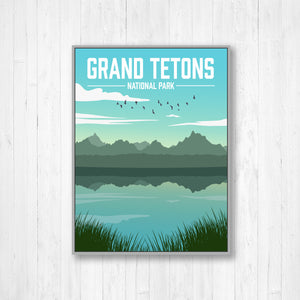Grand Tetons National Park Illustration