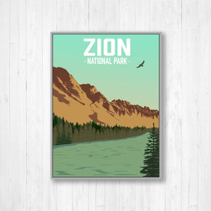Zion National Park Illustration