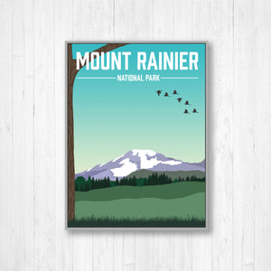 Mount Rainer Modern Illustration