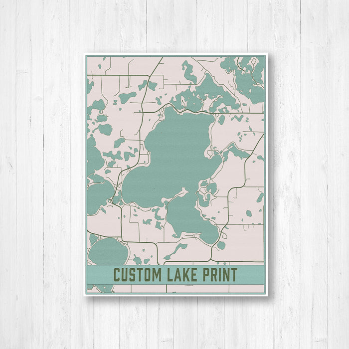 Pastel Custom Lake Canvas Print