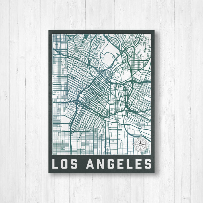 Los Angeles California City Street Map Print