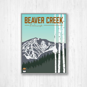 Beaver Creek Ski Resort Hanging Canvas Print
