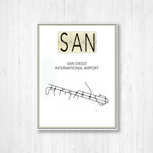 San Diego International Airport Map Print