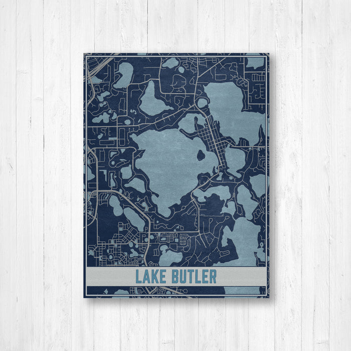Lake Butler Florida Map Print