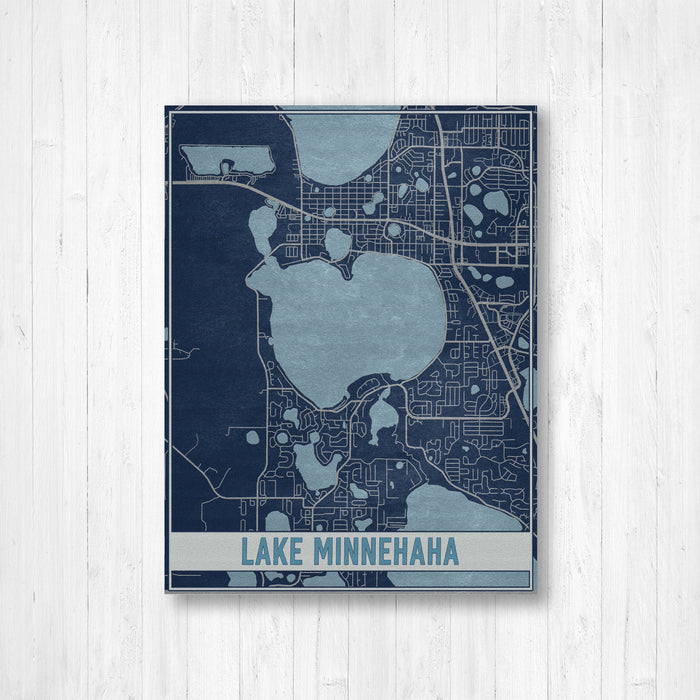 Lake Minnehaha Florida Map Print