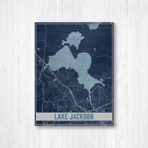 Lake Jackson Florida Map Print