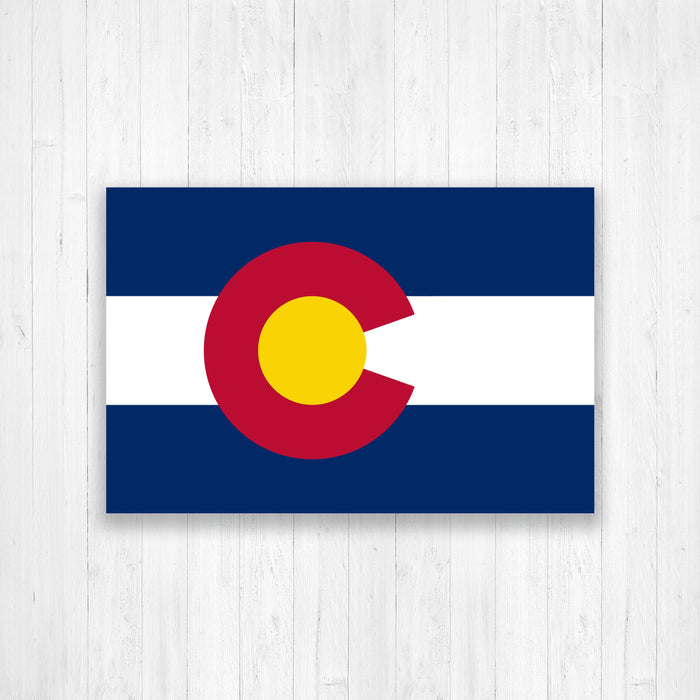 Colorado State Flag Map Canvas Print