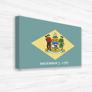 Delaware Flag Canvas