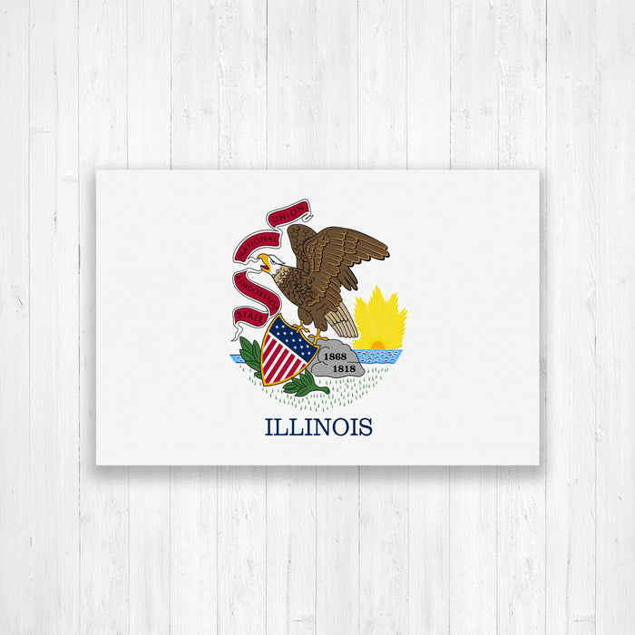 Illinois Flag Canvas
