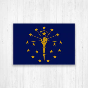 Indiana Flag Canvas