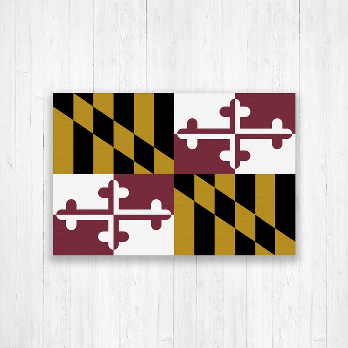 Maryland Flag Canvas Print