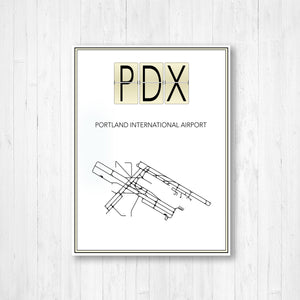 Portland International Airport Map Print