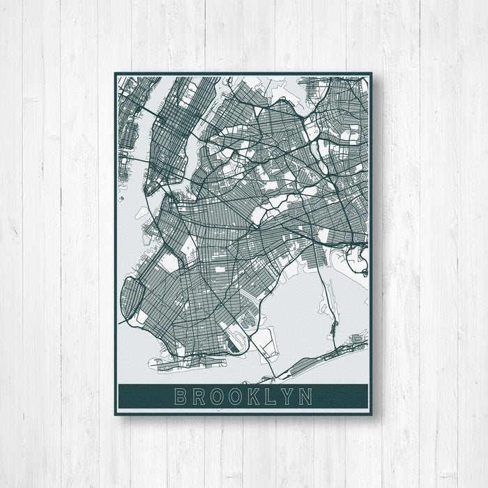 Brooklyn New York City Street Map