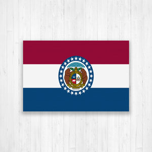 Missouri State Flag Canvas