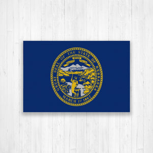 Nebraska Flag Canvas