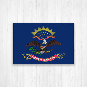North Dakota Flag Canvas