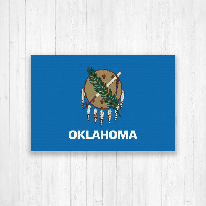 Oklahoma Flag Canvas