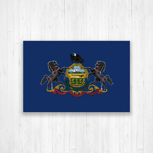Pennsylvania State Flag Canvas