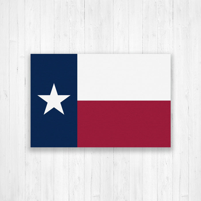 Texas State Flag Canvas Print