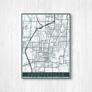 Fayetteville Map Print