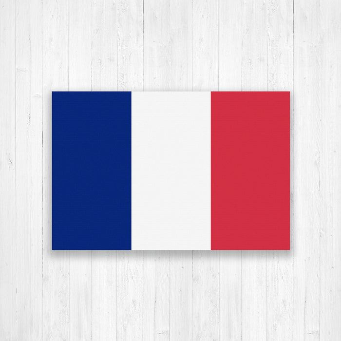 France Flag Canvas