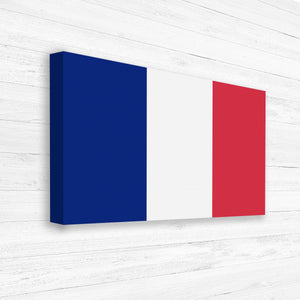 Large French Flag Canvas