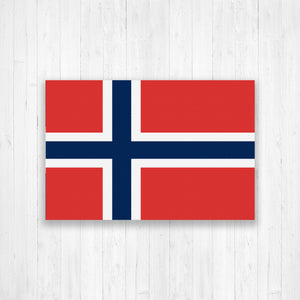Norway Flag Canvas