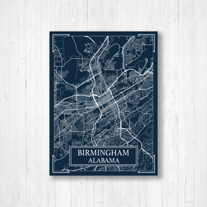 Birmingham Alabama Street Map