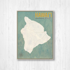 Hawai'i Vintage Nautical Map