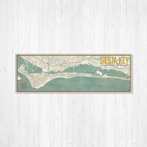 Siesta Key Florida City Lake Map Print