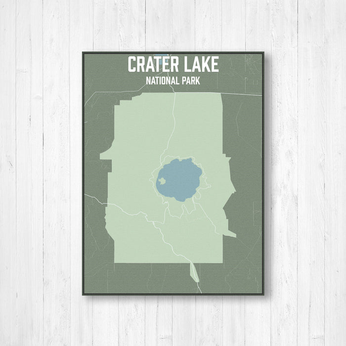 Crater Lake National Park Map Print