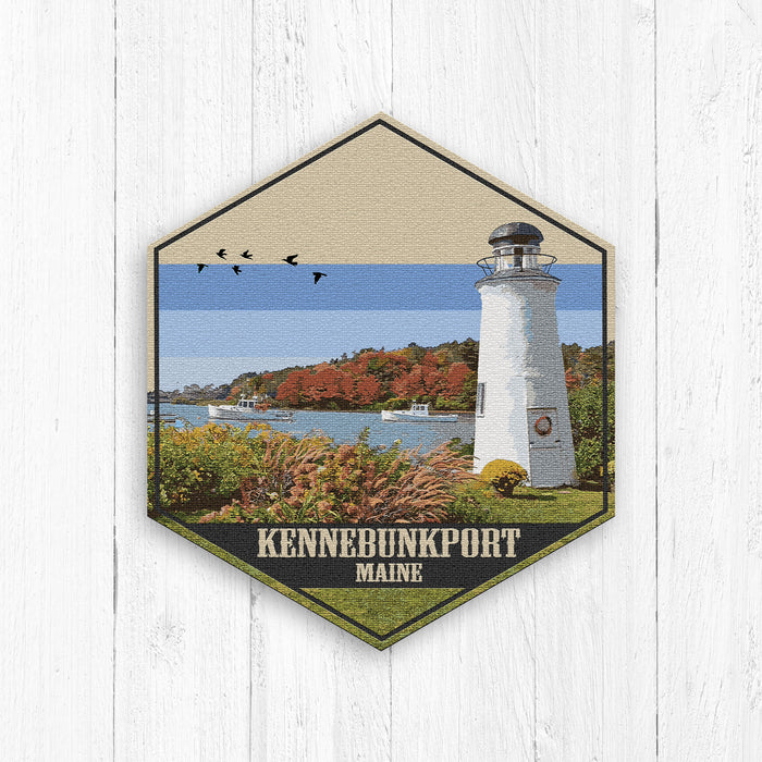 Kennebunkport Maine Hexagon Canvas Print
