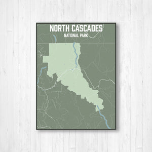 North Cascades National Park Street Map Print